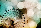 At the Fair art photography Pastel bokeh blue Ferris Wheel photograph metallic large photo geometric circles carnival modern nursery decor - Sylvia Coomes