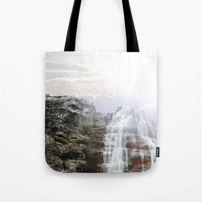 Art Tote beach Bag Majestic Fall photography Fashion photograph photo ethereal light nature Mountain Waterfall lavender purple waterfalls - Sylvia Coomes