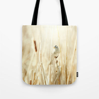 Art Tote beach bag Bright Bird fine art photography nature photograph yellow tones ethereal light photo minimalist summer fashion abstract - Sylvia Coomes