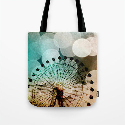Art Tote Bag At the Fair fine art photography Ferris Wheel