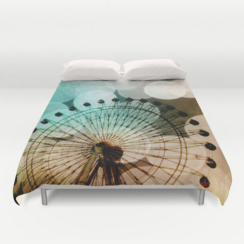 Art Duvet Cover At the Fair fine art photography Ferris Wheel home decor - Sylvia Coomes