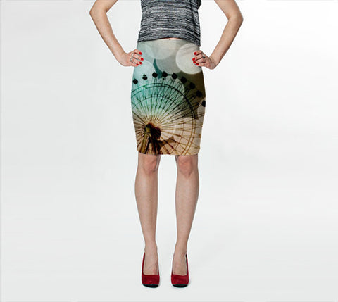 Women's Art Fitted Skirt At the Fair fine art photography Ferris Wheel Fashion