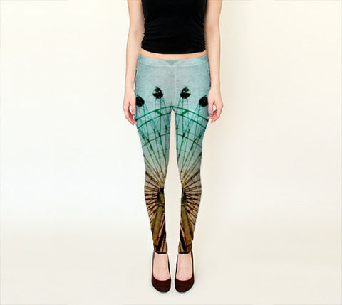 Art Leggings Capris At the Fair fine art photography Ferris Wheel Fashion