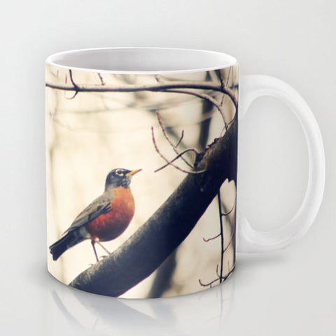 Art Coffee Cup Mug Robin Red Breast fine art photography home decor - Sylvia Coomes