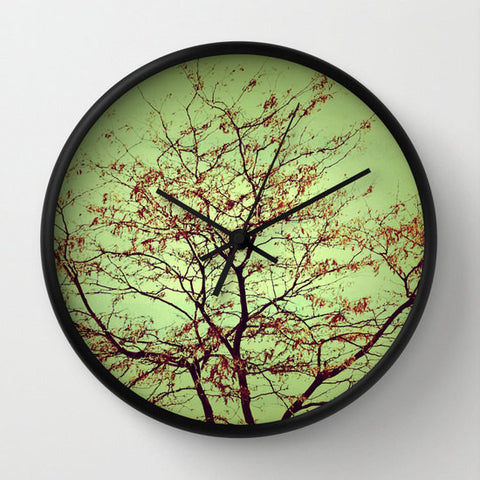 Art Wall Clock Modern Fall fine art photography home decor - Sylvia Coomes