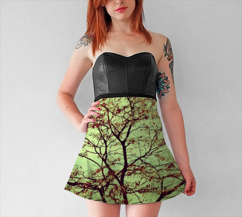 Women's Art Flare Skirt Modern Fall fine art photography Fashion - Sylvia Coomes