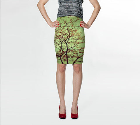 Women's Art Fitted Skirt Modern Fall fine art photography Fashion - Sylvia Coomes