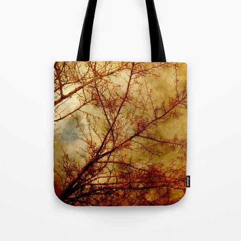 Art Tote Bag Gothic Red Trees fine art photography Fashion