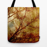 Art Tote Bag Gothic Red Trees fine art photography Fashion - Sylvia Coomes
