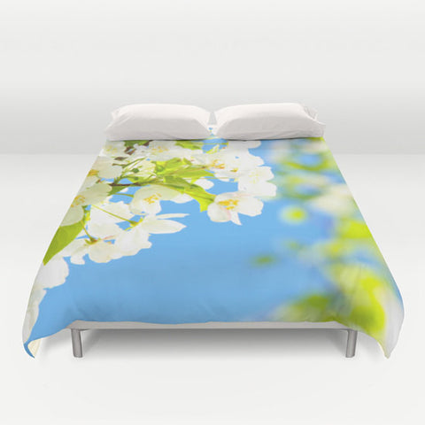 Art Duvet Cover Bright Blooms fine art photography home decor