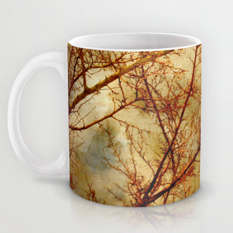 Art Coffee Cup Mug Gothic Red Trees fine art photography home decor - Sylvia Coomes