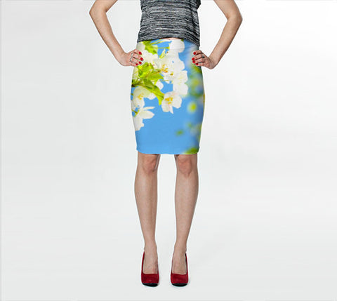 Women's Art Fitted Skirt Bright Blooms fine art photography Fashion - Sylvia Coomes