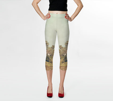 Art Leggings Capris West Coast 1 fine art photography Fashion