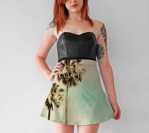 Women's Art Flare Skirt Palm Trees 1 fine art photography Fashion