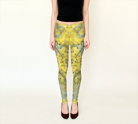 Art Leggings Capris Sunny Blooms 1 fine art photography Fashion - Sylvia Coomes