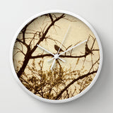 Art Wall Clock Golden fine art photography home decor - Sylvia Coomes