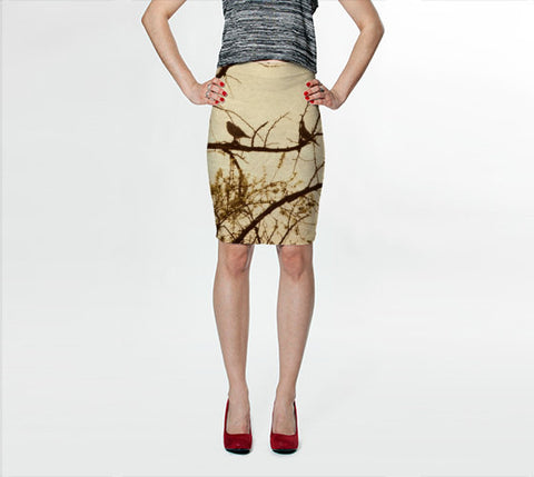 Women's Art Fitted Skirt Golden fine art photography Fashion - Sylvia Coomes