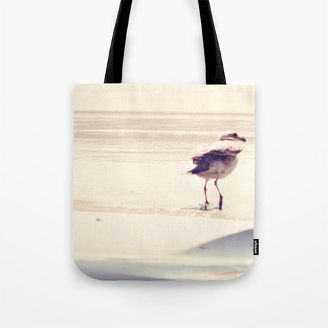 Art Tote Bag Bird at the Beach fine art photography Fashion