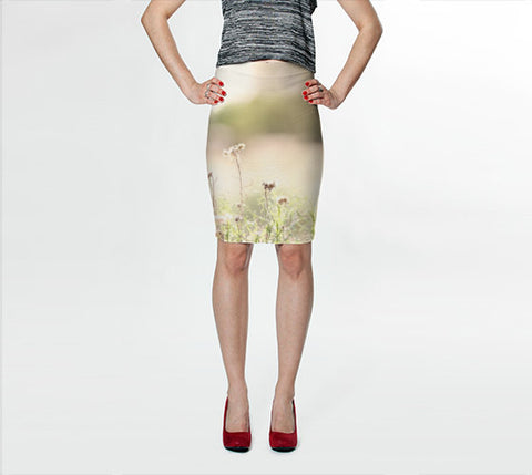 Women's Art Fitted Skirt Glimmering Light fine art photography Fashion