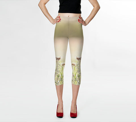 Art Leggings Capris Glimmering Light fine art photography Fashion - Sylvia Coomes