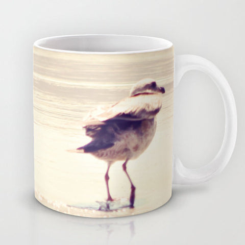 Art Coffee Cup Mug Bird at the Beach fine art photography home decor - Sylvia Coomes