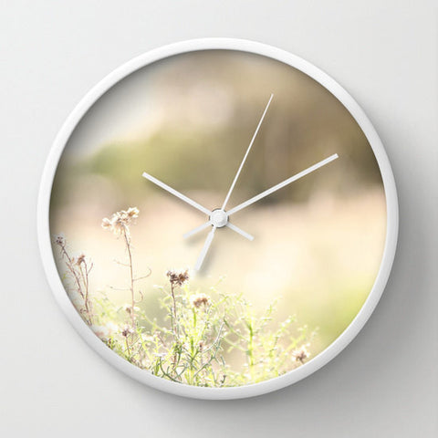 Art Wall Clock Glimmering Light fine art photography home decor - Sylvia Coomes