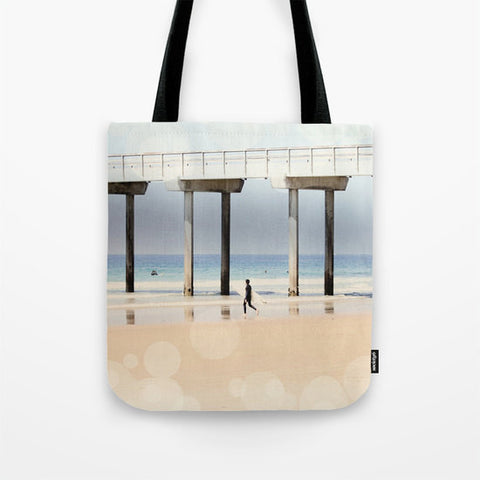 Art Tote Bag Boardwalk 1 fine art photography Fashion - Sylvia Coomes