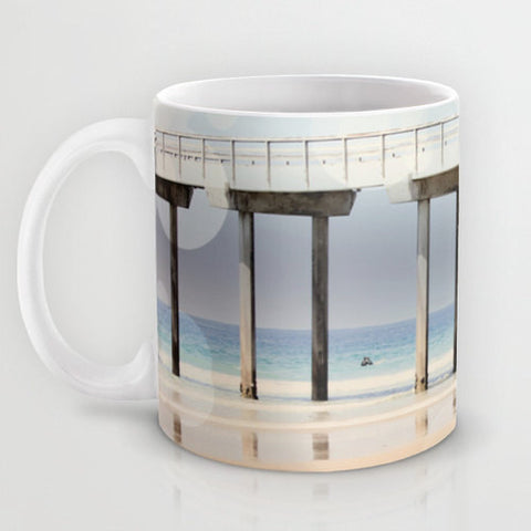 Art Coffee Cup Mug Boardwalk 1 fine art Modern Geometric Nautical Beach photography home decor Java Lovers - Sylvia Coomes
