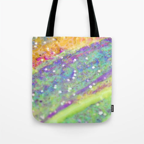 Art Tote Bag Color Blast 2 Modern Geometric Shapes Spring Summer Fashion multicolor art pastel green yellow pink purple aqua blue white neon - Sylvia Coomes