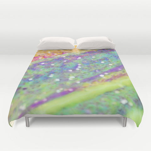 Art Duvet Cover Color Blast 2 Modern Geometric Shapes home decor Bed Cover multicolor green yellow pink purple aqua blue neon bedding Queen