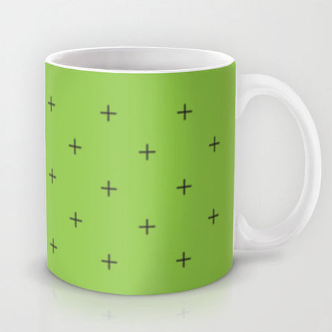 Art Coffee Cup Mug home decor Java Lovers Swiss Cross Black Greek Crosses hipster geometric modern Plus sign add addition sign 22 colors - Sylvia Coomes