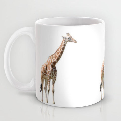 Art Coffee Cup Mug Giraffe photography home decor Java Lovers photo orange white Giraffe coffee cup Giraffe mug safari coffee cup mug