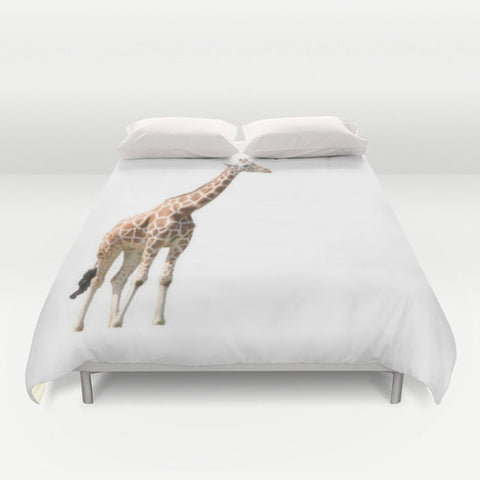 Art Duvet Cover Giraffe Photography Home Decor Photograph Safari Animal  Print Photo Full Queen King Bed