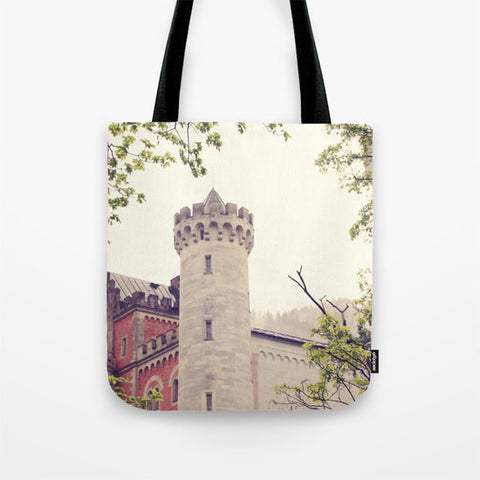 Art Tote beach Bag Queen of Your Castle photography Fashion photograph grey gray ethereal light photo German Germany Renaissance time - Sylvia Coomes