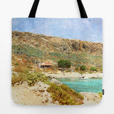 Art Tote Beach Bag At Sea 3 photography summer Fashion photo photograph Mediterranean texture ocean aqua sky blue beach nautical mountain