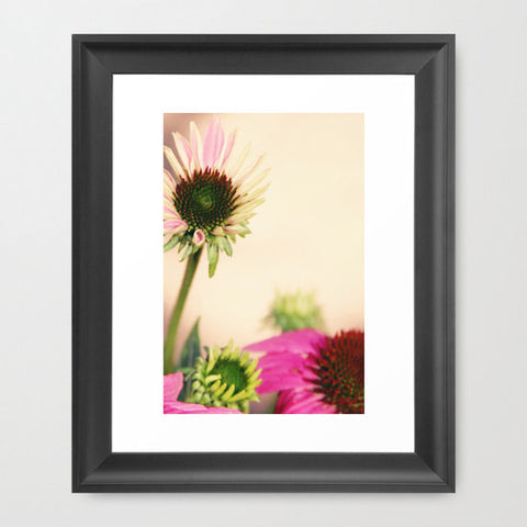 Floral Photography - Flower photograph - Nature Photo - wall Print - home decor - yellow and pink flowers - cottage chic