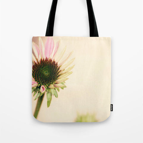 Flower Tote Bag - Flower Tote - Pink and Yellow photography - Nature Tote - Shopping Bag - Sylvia Coomes