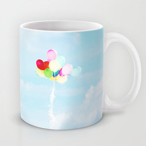 Sky Coffee Cup - Balloon Coffee Mug - Cloud Coffee Mug - Coffee Mug - Coffee Cup - Sky Blue Photo - Sky photography - Cloud Photograph - Sylvia Coomes