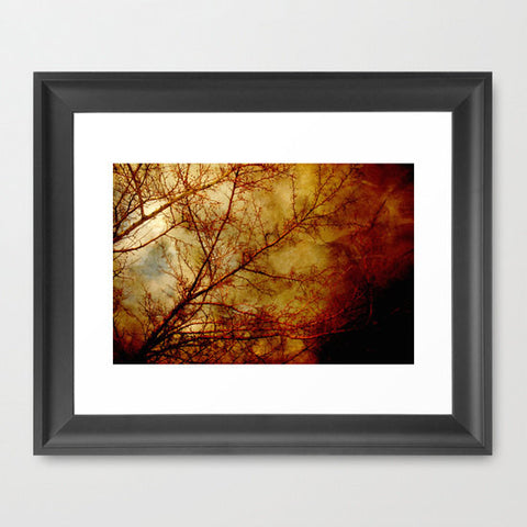Gothic Red Tree Photography - Nature Wall Print - Rust and Gold photograph - Tree photo - wall Print - home decor - Sylvia Coomes