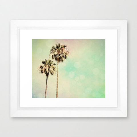 Palm Trees Photography - Beach photograph - Pastel Rainbow Colors - Modern Wall Print - California photo - wall Print - Beach House decor - Sylvia Coomes