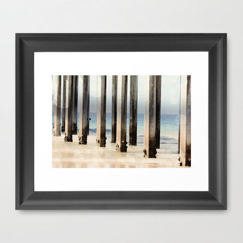 Geometric Photography - Ocean Photograph - Geometric Lines - Boardwalk photography - California Art Print - Nautical Photo - Beach print - Sylvia Coomes