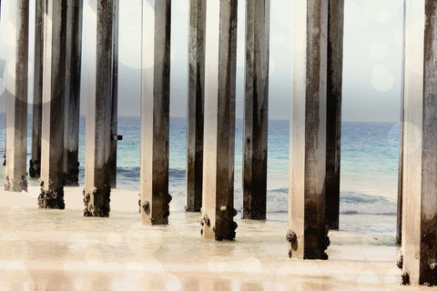 Geometric Lines - Geometric Photo - California Art - Ocean Photography - Large Photo - Boardwalk photograph - Nautical Print - Beach print - Sylvia Coomes