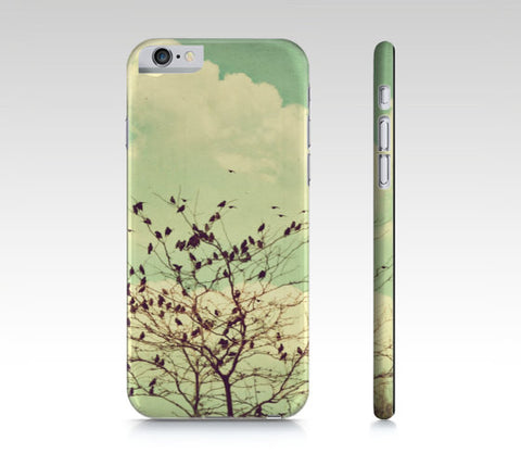 Birds Phone Cover - Mint Green Phone Case - iPhone Case - Flock of Birds Case - Art Phone Case - iPad Mini Case - Samsung Galaxy S4 S5 - Sylvia Coomes
