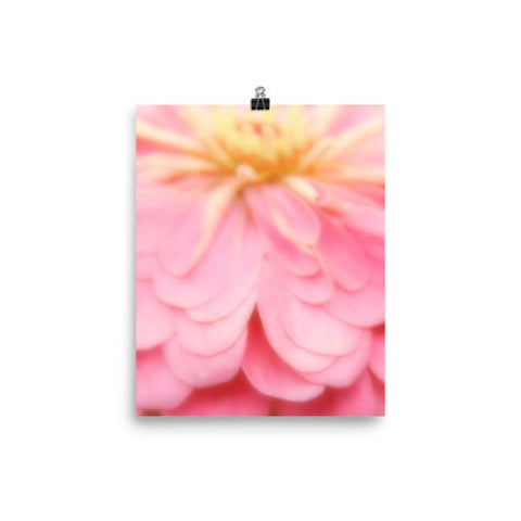 Abstract Pink and Yellow Flower Matte Poster