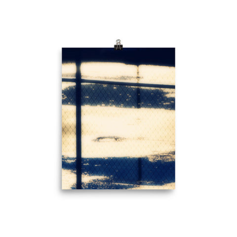 Abstract Tennis Court Matte Poster - Sylvia Coomes