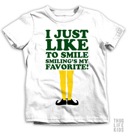 I Just Like To Smile Kids Tees