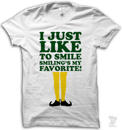I Just Like To Smile Adult Shirt