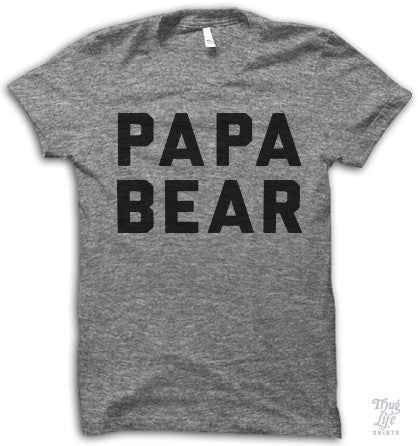Papa Bear Adult Shirt