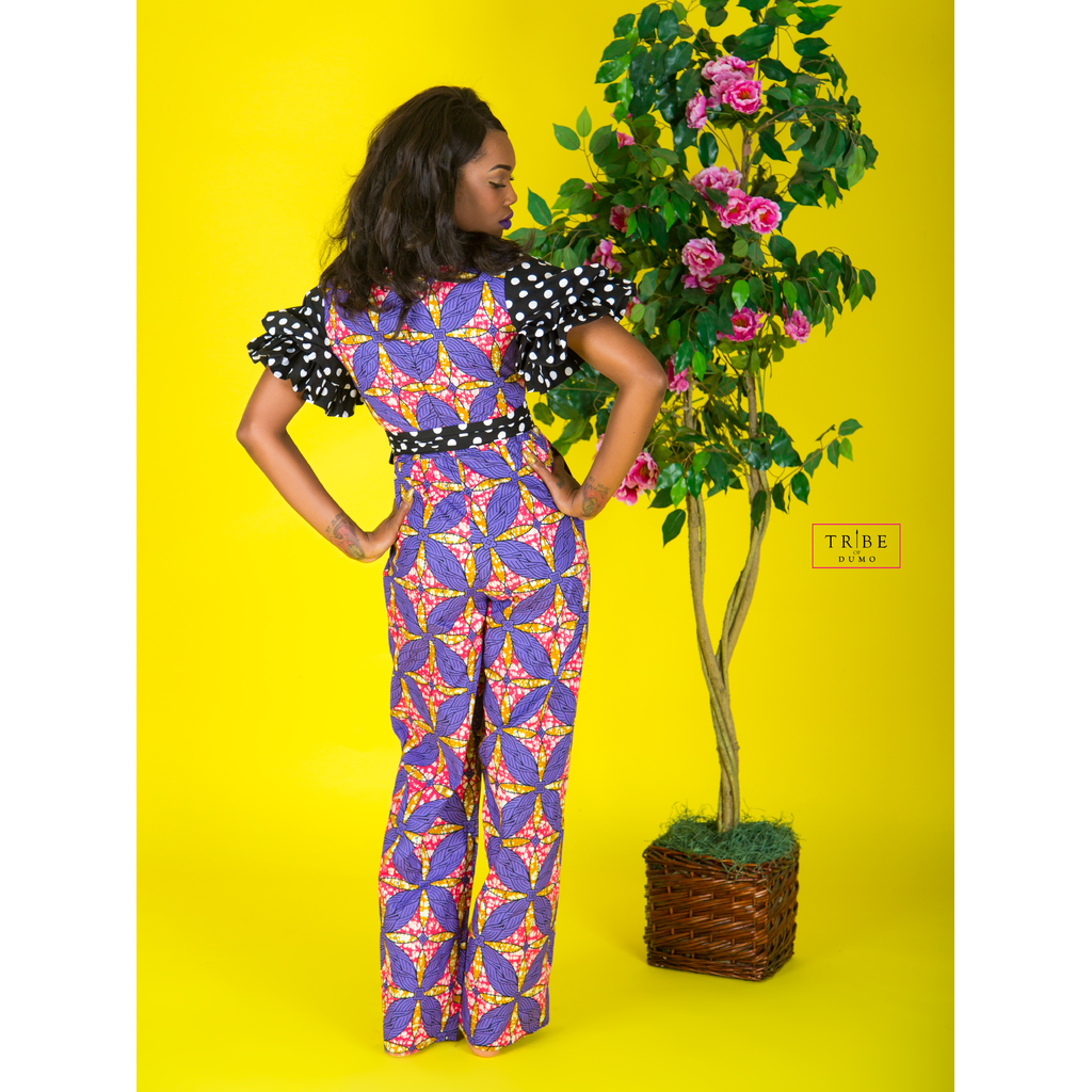 Daveda Dot Jumpsuit - Purple
