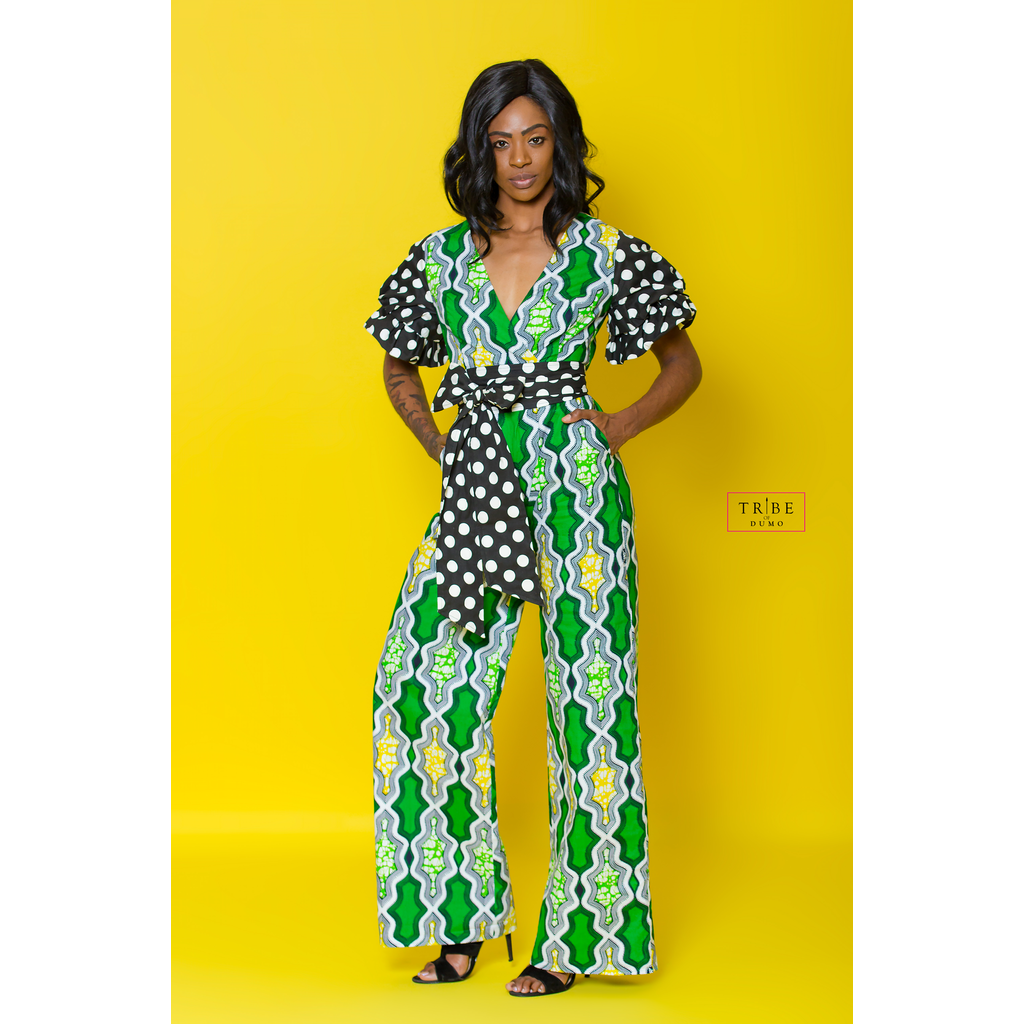 Daveda Dot Jumpsuit - Green